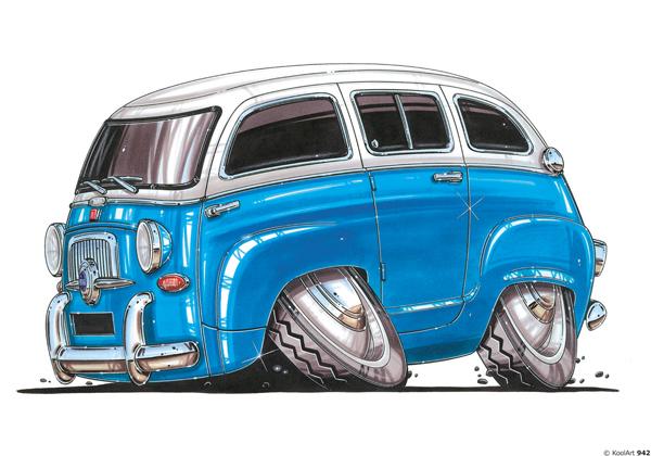 Fiat 600 Combi Bleu