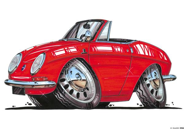 Fiat 850 Cabriolet Rouge
