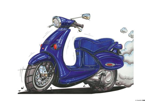 Aprilia Scooter 50CC Bleu