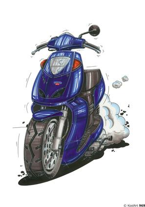 Aprilia Scooter Sonic Bleu