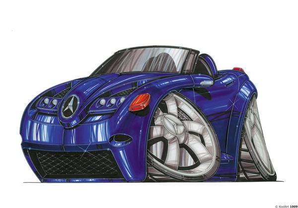 Mercedes SLA Bleue