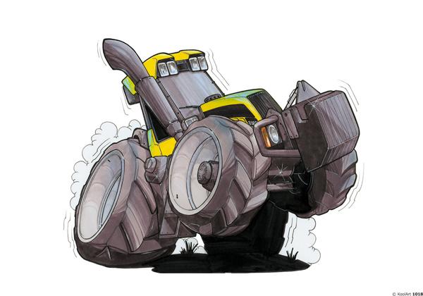 Tracteur JCB Jaune