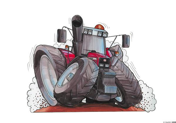 Tracteur Massey Ferguson Rouge