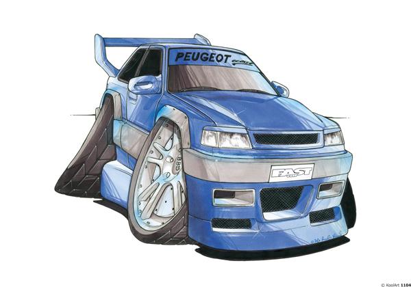 Peugeot 309 Bleue