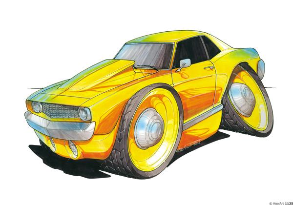 Chevrolet Camaro Jaune