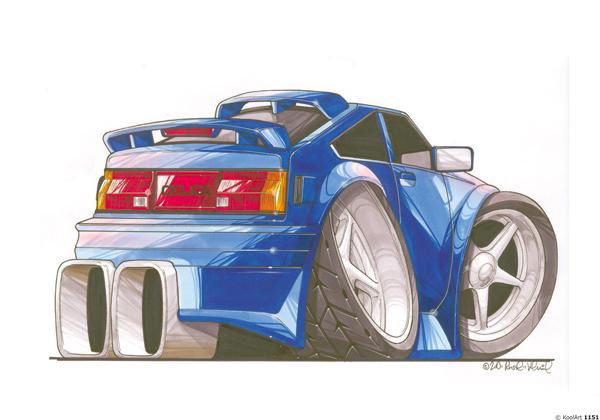 Toyota Celica Bleue