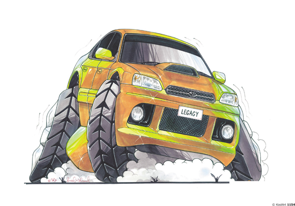 Subaru Legacy Jaune