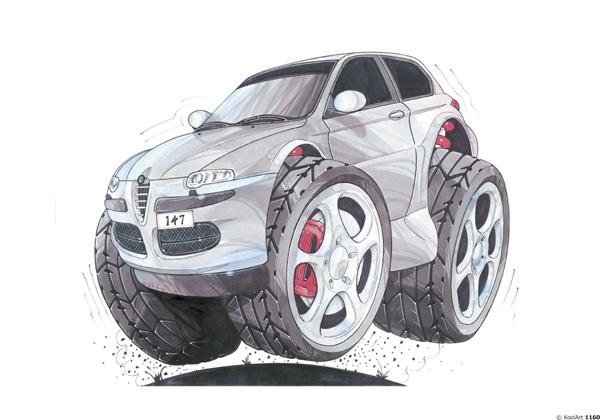 Alfa Roméo 147 Grise