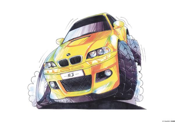 BMW M3 Jaune