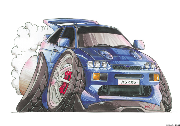 Ford Escort RS Tunning Bleue