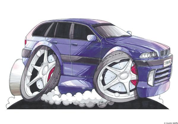 BMW Serie 5 Bleue