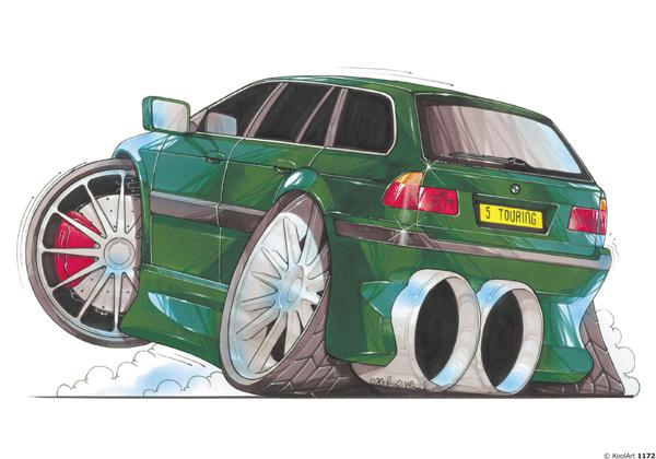 BMW Serie 5 Touring Verte