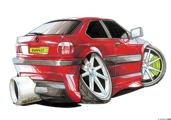 BMW Compact Rouge