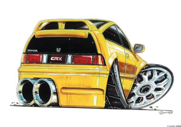 Honda Civic CRX Jaune