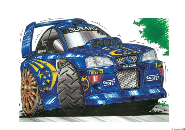 Subaru Impreza Rallye Bleue
