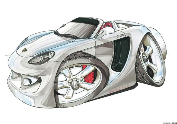 Porsche Carrera GT Grise