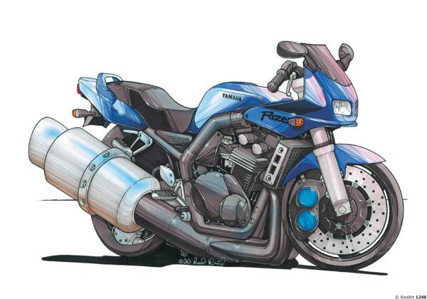 Yamaha Fazer Bleue