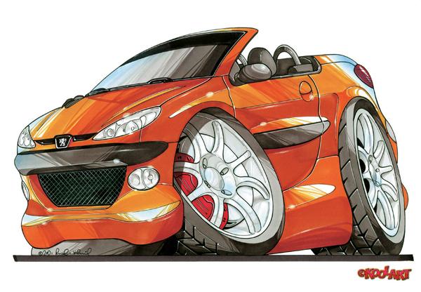 Peugeot 206 CC Orange
