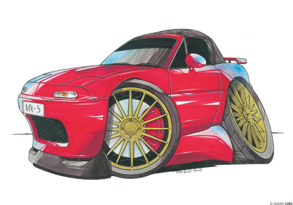 Mazda MX5 Rouge
