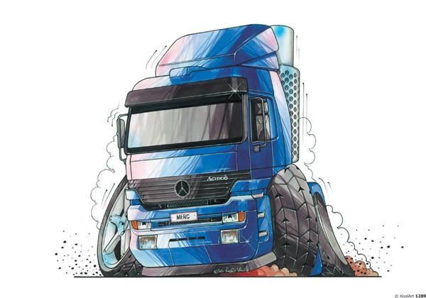 Mercedes Trucks Actros Bleu