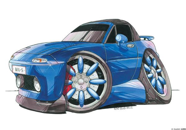 Mazda MX5 Bleue