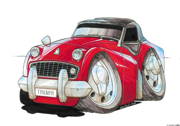 Triumph TR3 Rouge
