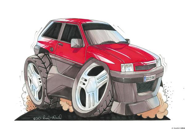 Opel Corsa 4X4 Rouge