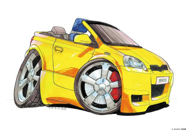 Toyota Yaris Cabriolet Jaune