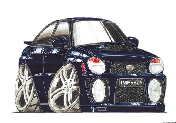 Subaru Impreza Bleue Nuit