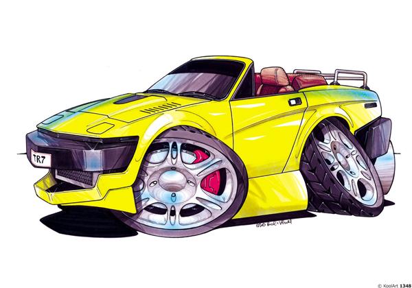 Triumph TR7 Cabriolet Jaune