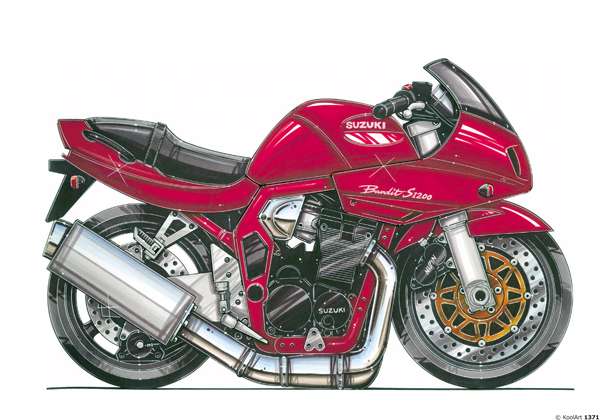 Suzuki Bandit S1200 Rouge