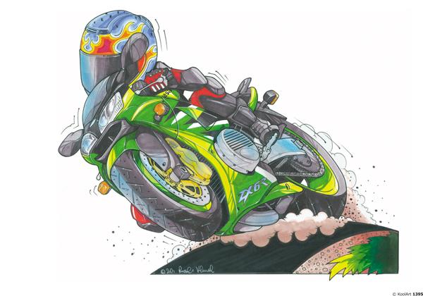 Kawasaki ZX6R GP Verte