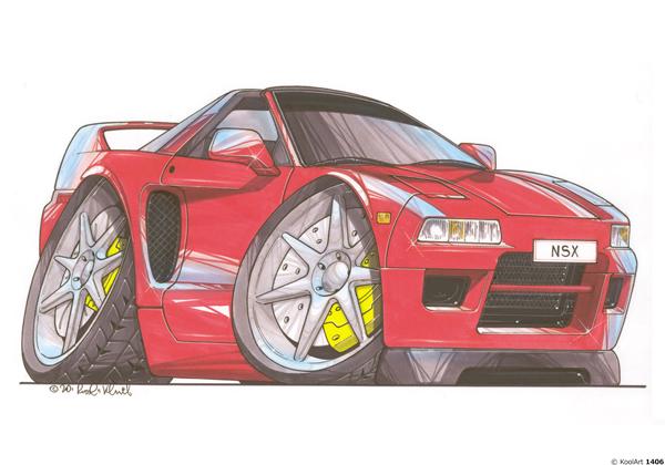 Honda NSX Rouge