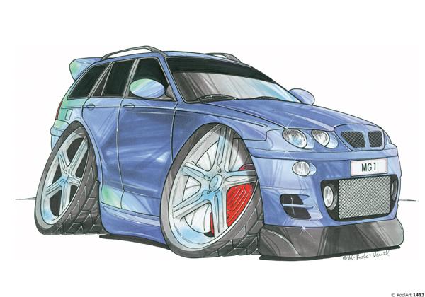 MG ZT-T Break Bleue