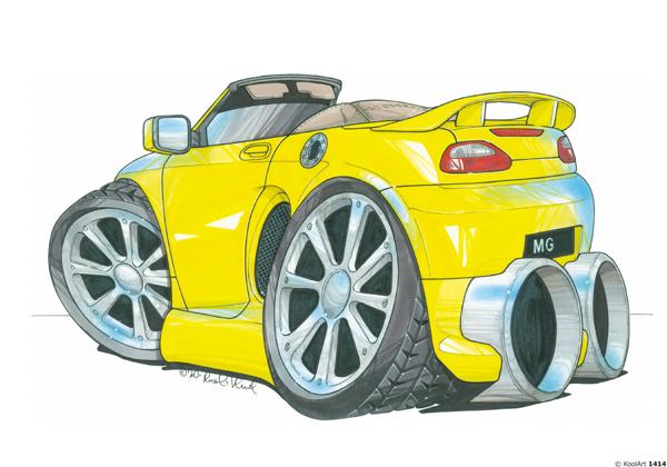 MG F Cabriolet Jaune