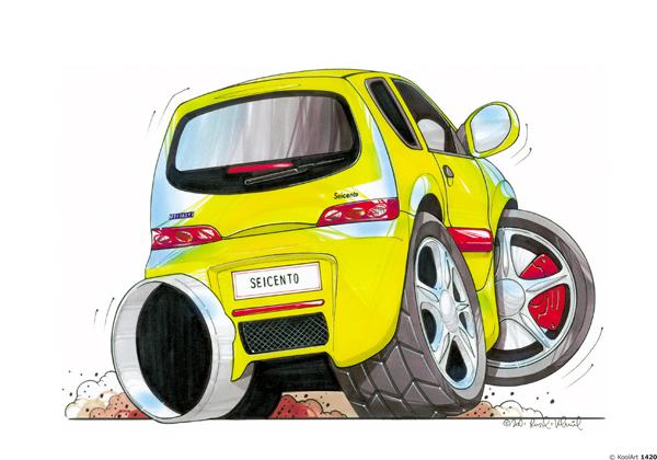Fiat Seicento Jaune