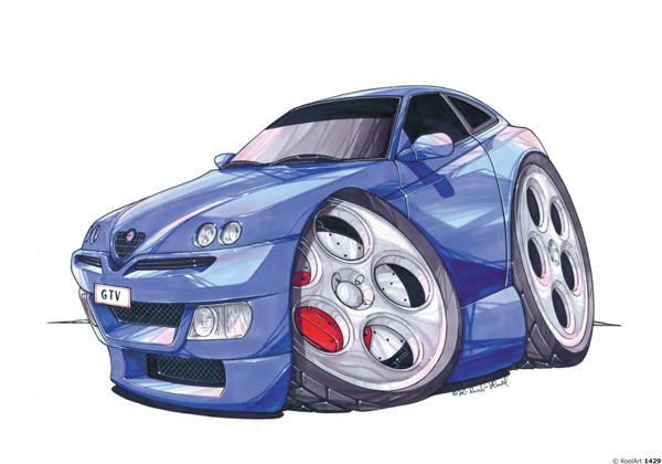 Alfa Roméo GTV Bleue