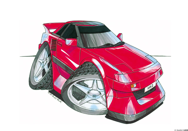 Toyota MR2 Rouge