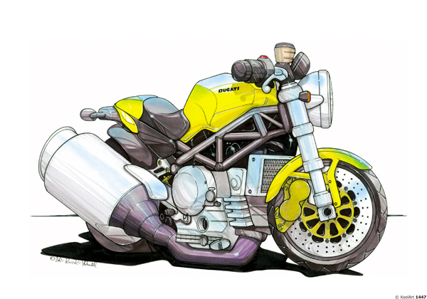 Ducati Monster Jaune