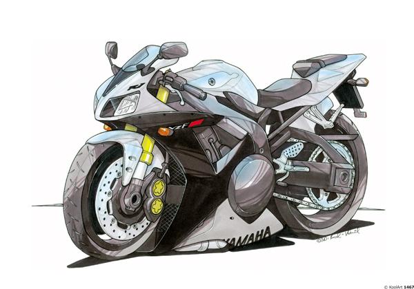 Yamaha R1 Grise