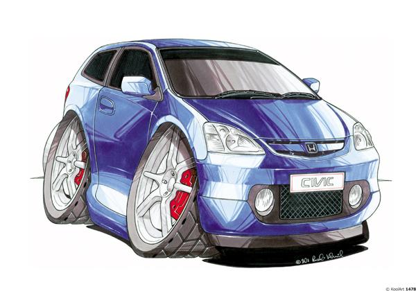 Honda Civic Bleue