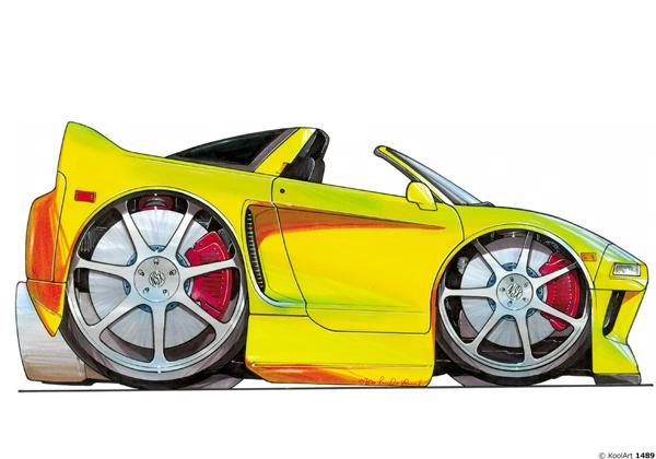Honda NSX Cabriolet Jaune