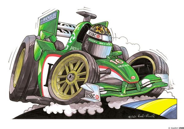 Jaguar Formule 1 Verte