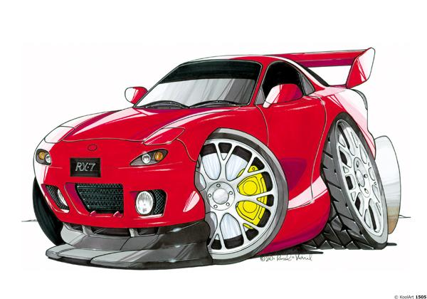 Mazda RX7 Rouge