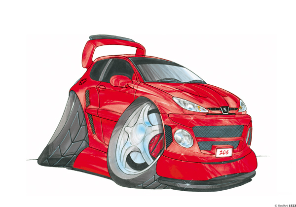 Peugeot 206 Tunning Rouge