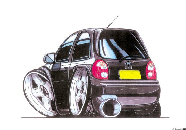 Opel Corsa Arriere Noire