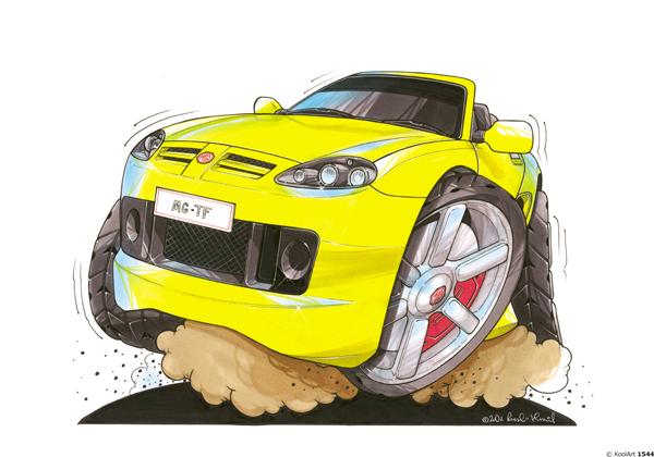 MG TF Cabriolet Jaune