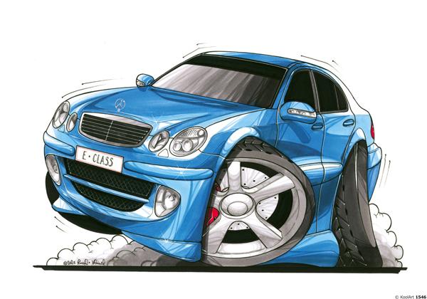 Mercedes Classe E Bleue