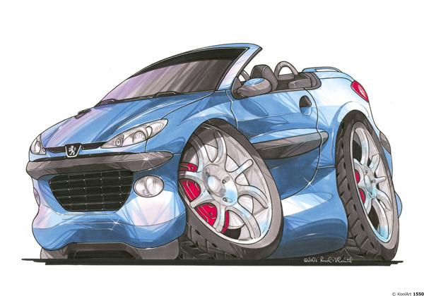 Peugeot 206 CC Bleue