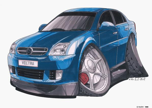 Opel Vectra Bleue
